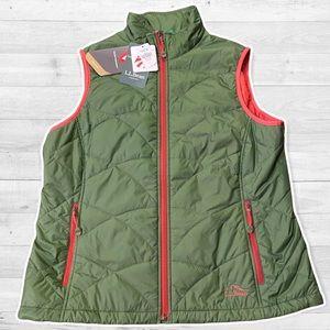 NWT L.L Bean Primaloft Packaway Vest Miss Reg herb green